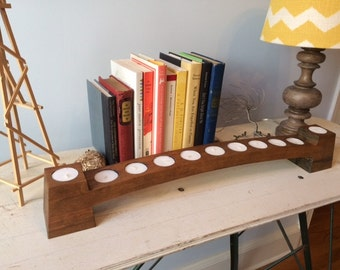 Arched Wood Tealight Holder