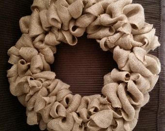 Plain Burlap Wreath-FREE SHIPPING!