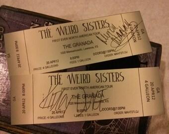Custom Weird Sisters Concert Tickets