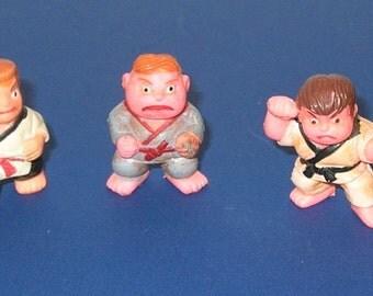 Vintage lot of 3 Soma Karate Kids Vending Machine Toys
