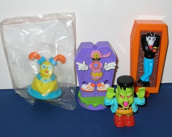 Vintage 1991 McDonalds Gravedale High Set of 4 Happy Meal Toys