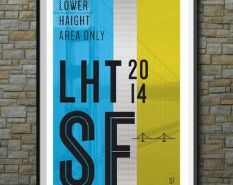 SF Muni Poster: Lower Haight