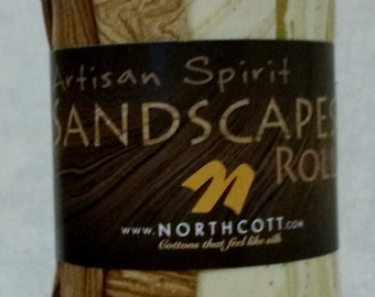 Northcott Artisan Spirit Sandscapes Roll Earth/Latte 10 Fat Quarters in Browns and Creams