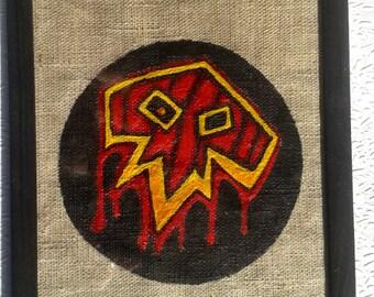 WORLD OF WARCRAFT  poster horde  alliance banner logo shaman