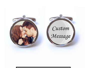 Custom Photo and Message Cufflinks