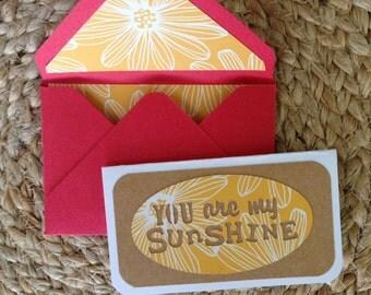 2x3.5 You are my Sunshine Card