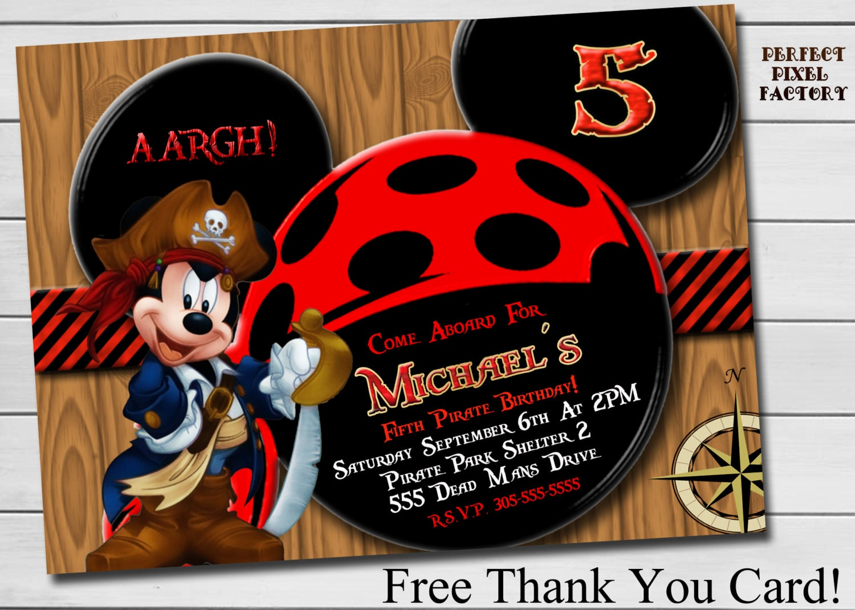 Pirate Mickey Birthday Invitation – orderecigsjuice.info