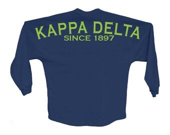 KD // Kappa Delta // Since Jersey // Choose Your Colors // Sorority Oversized Jersey