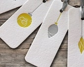 ORNAMENT GIFT TAGS Letterpress set of 8