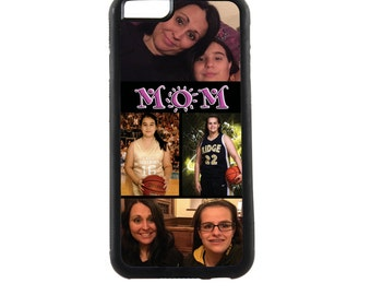 CUSTOM PHOTO PHONE Case - Personalized Mom Photo Collage cell phone case, Iphone 6a Plus, Samsung Galaxy Note 5
