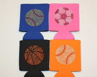 Personalized Sport Koozie for Basketball, Softball, Baseball, and Soccer