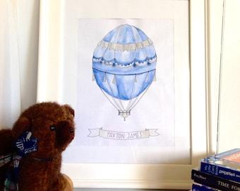 Azure Hot Air Balloon