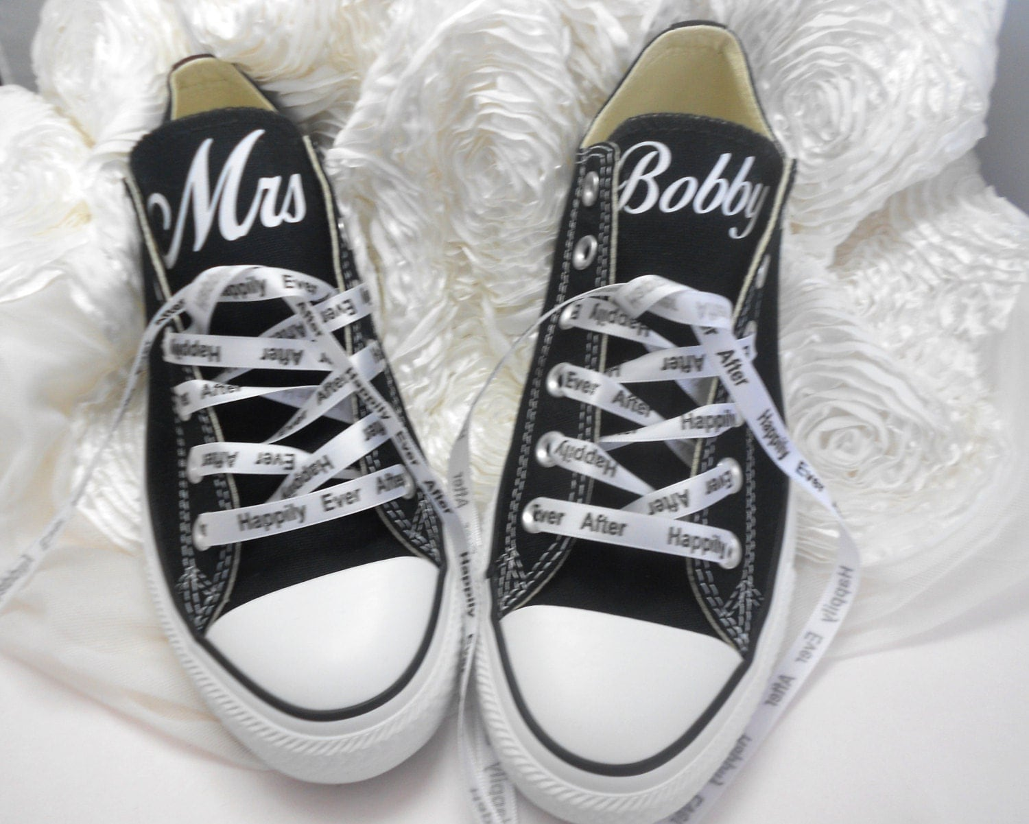 custom wedding converse personalized mrs by