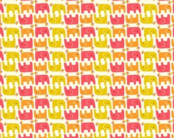 Organic Cotton Fabric in Ellie Stagger Girl from the Frolic Collection by Birch Fabrics  *UK Seller*  *Sold by the METRE*