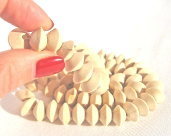 Wooden Beads, 14 mm, Unfinished Beads, Disc, Flattened, Wooden Jewelry Supply, Natural Wood, Eco Friendly, Set of 10