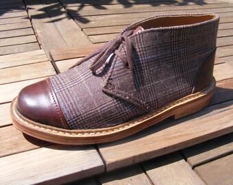 POLACCHINA SHOE leather and fabric