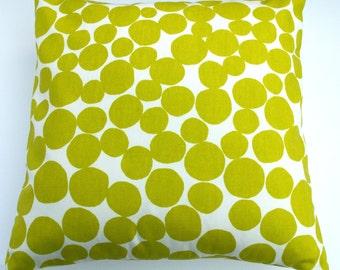"Modern Bright Lime Green Bubbles Decorative Home Decor Pillow Cushion Cover 16"" / 40cm"