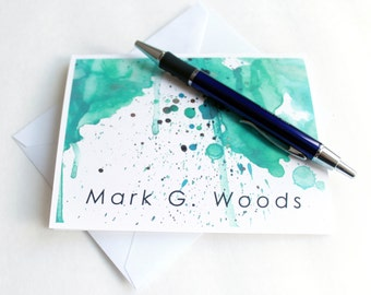Personalized Stationery Note Cards Personalised Mens Stationery Set Card Set Personalized Cards Notecards Gifts For Men Gifts For Him