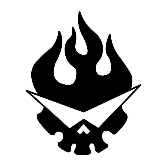Gurren Lagann Skull Emblem Vinyl Decal