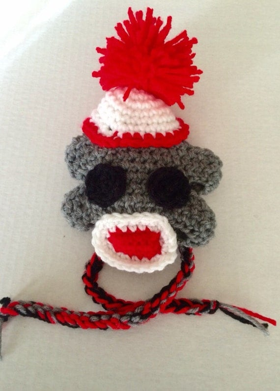 Crochet Pattern For Dog Hat With Ear Holes : Items similar to Crochet Dog Hat with Earholes Sock Monkey ...