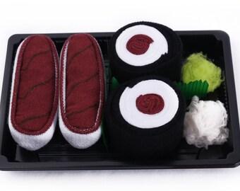 Sushi Socks Box 2 pairs Tuna Maki Tuna Cool Gift Present Gadget