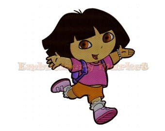 explorer dora embroidery Design for Embroidery Machines 3 sizes Instant Download