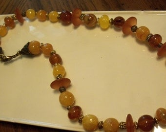 Beaded Necklace made with Vintage and New beads