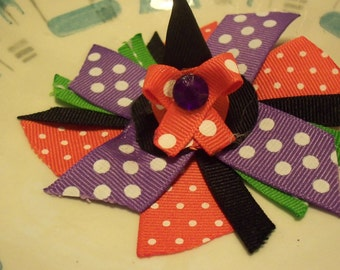 Little Witch's Hat Hair Bow