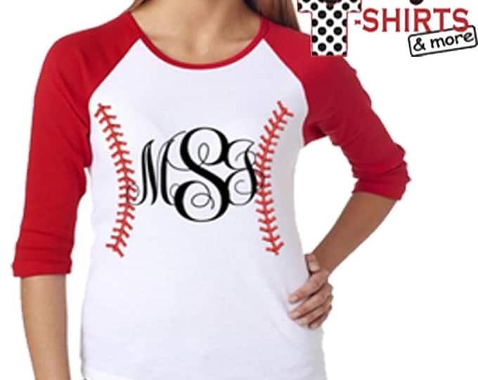 Monogrammed Baseball T-Shirt