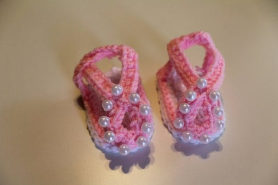 Baby shoesGirls shoes Sandals Little pearls for by ...