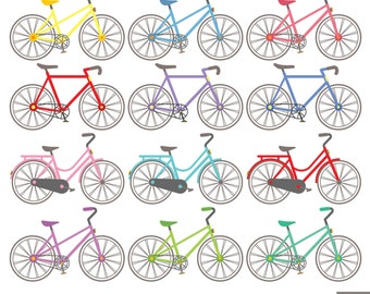 Bicycles Digital Clipart