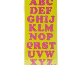 3 Inch Die Cut Felt Letters plain or sticky - Pick Your Letters and Colors