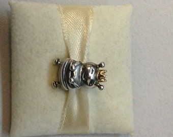 Authentic Pandora Two-Tone Queen Bee Charm #790227
