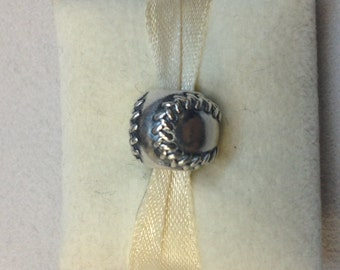 Authentic Pandora Silver Baseball Charm #790969