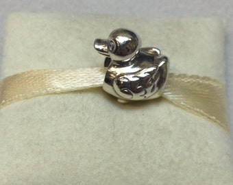 Authentic Pandora Silver Ducky Charm #790955