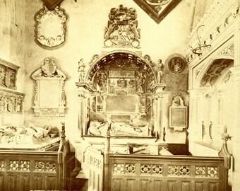 Vintage Photograph Clopton Chapel Holy Trinity Church-Stratford England