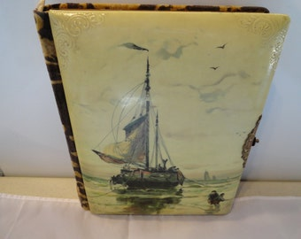 Celluloid Covered Remembrance Album From 1800's