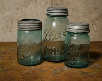 Blue Bell Mason Jars