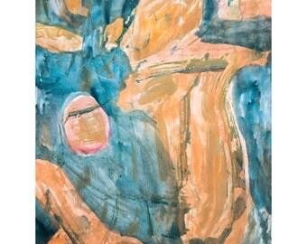 V for Love Series #3.  Giclee Fine Art Print, Abstract Art, Wall Art, Home Office Decor