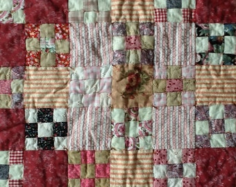 Think Pink Flowers Quilt