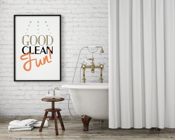 Bathroom wall art kids bathroom art laundry room art print for Bathroom photoshoots