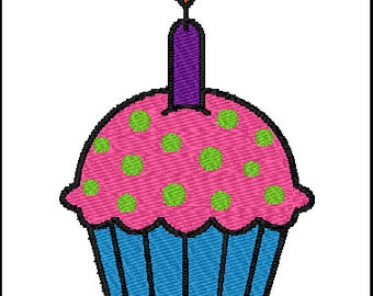 Cupcake Embroidery Design