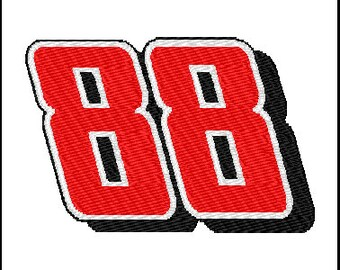 Dale Earnhardt Jr 88 Embroidery Design