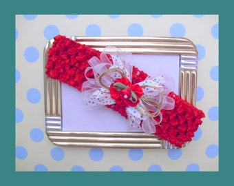 Red Soft Stretch Baby Headband