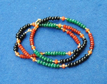 Agate, jade, onyx, necklace, gemstones, made in Italy