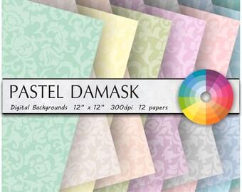 DIGITAL PAPER damask digital paper pastel damask digital paper pastel damask digital paper pastel damask digital paper