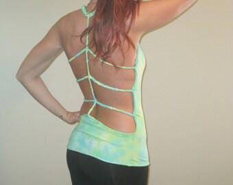 Tie Dye Braided Open Back Tank