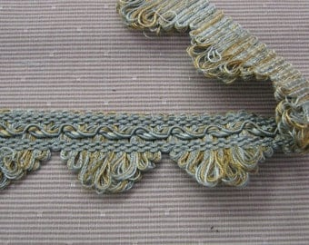 Brimar Scallop Fringe in Sea, Mist and Gold