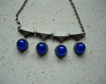 vintage pewter necklace, modenist