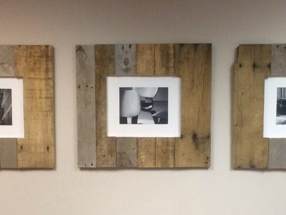 Decorative Wood Framing : Pallet picture frames wood reclaimed by